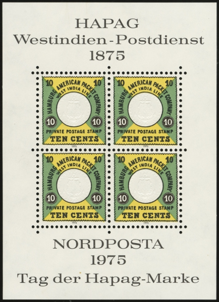 1975 Reprint Sheetlet