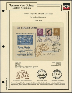Luftschiff Expedition Private Postcard