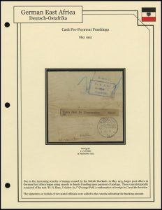 Cash Pre-Payment Frankings