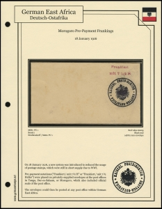 Morogoro Pre-Payment Frankings
