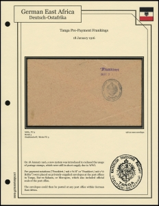 Tanga Pre-Payment Frankings