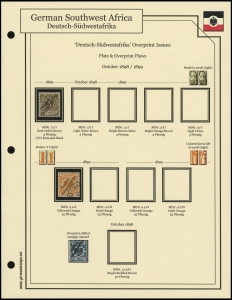 1898 / 1899 Overprints Plate Flaws