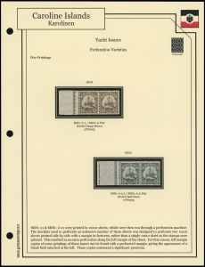 1915 / 1923 Yacht Perforation Flaws