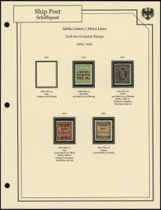 Africa Lines 1919 / 1922 Overprints