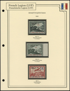 1943 Airmail Overprints