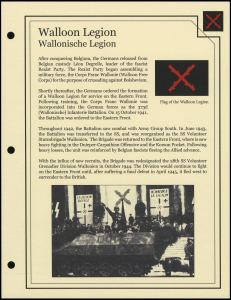 Walloon Legion Cover