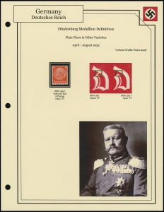 Hindenburg Medallion Varieties