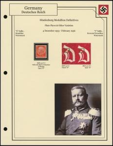 Hindenburg Medallion Varieties