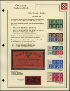 Hitler Definitives Booklet