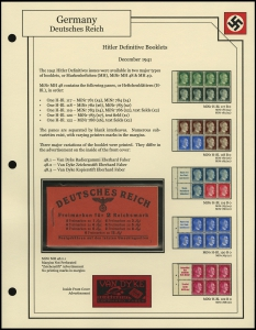 Hitler Definitives Booklet