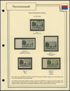 Theresienstadt Parcel Stamp