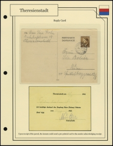 Theresienstadt Reply Card