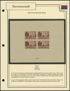 Theresienstadt Red Cross Sheetlet