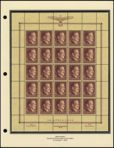 Hitler's 53rd Birthday Sheet