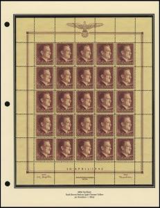 Hitler's 53rd Birthday Sheet