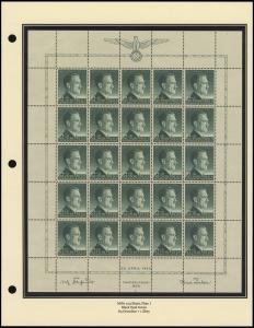 Hitler's 54th Birthday Sheet