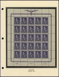 Hitler's 55th Birthday Sheet