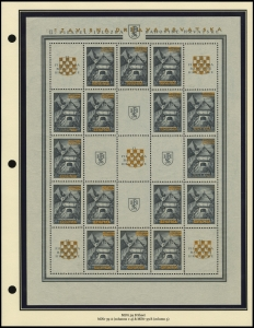 Yugoslavian Overprints Sheet