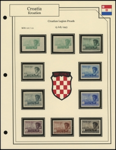 Croatian Legion Proofs
