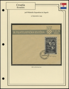 3rd Philatelic Exposition in Zagreb
