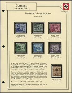 Franzensbad U.S. Army Overprints