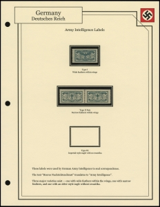 Army Intelligence Labels