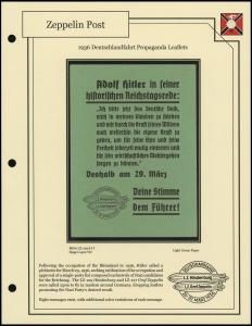 1936 Deutschlandfahrt Leaflet