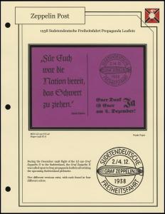 1938 Sudetendeutsche Freiheitsfahrt Leaflet