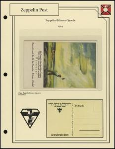 Zeppelin-Eckener-Spende Postcard