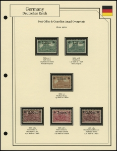 Post Office & Angel Overprints