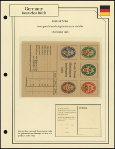 Coats of Arms Order Card