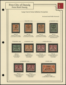 Large Coat of Arms Inflation Overprints