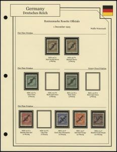 Rentenmarke Rosette Overprints