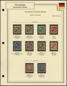 Dienstmarke Overprints