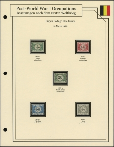 Eupen Postage Due Issues