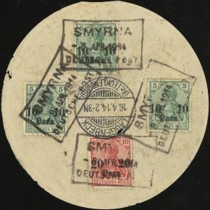 MiNr. 36 (x3), MiNr. 37
