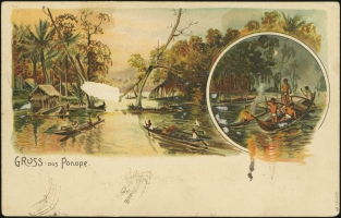 MiNr. 9 H<br/>on postcard (back)