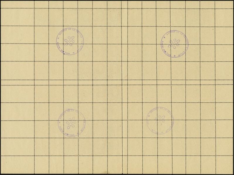 MiNr. 42 b Sheet (back)