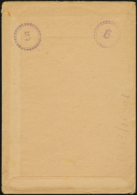MiNr. P264 envelope (rear)