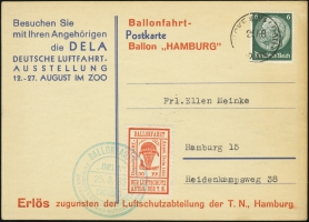 MiNr. 21 a on Postcard (front)