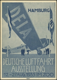 MiNr. 21 b on Postcard (rear)