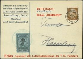 MiNr. 21 c on Postcard (front)