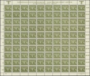 MiNr. 34 Sheet (I/4)