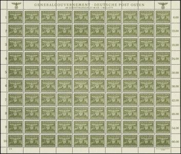 MiNr. 34 Sheet (I/3)