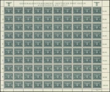 MiNr. 36 Sheet (I/3)