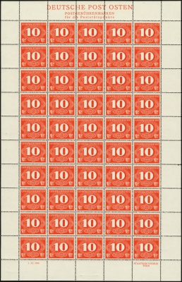 MiNr. 1 Sheet