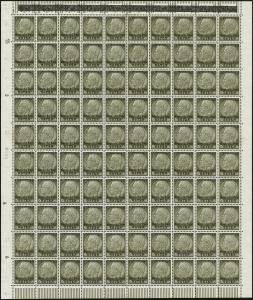 MiNr. 10 Sheet