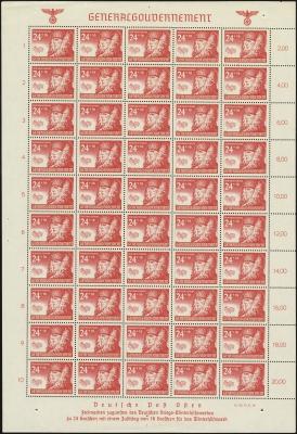 MiNr. 60 Sheet