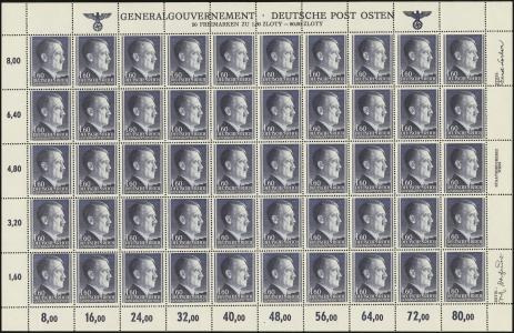 MiNr. 88 B Sheet
