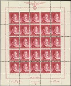 MiNr. 102 Sheet Plate IV